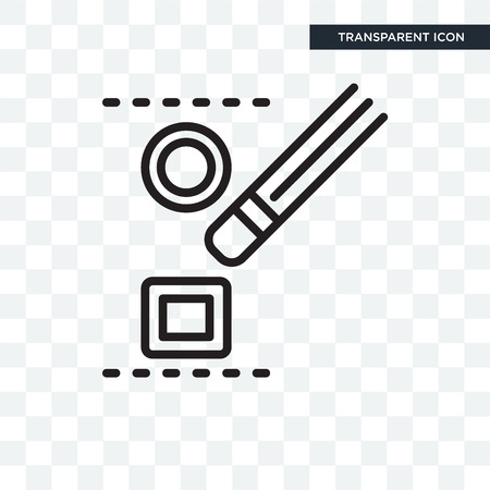 Desagrupar icono de vectores aislado sobre fondo transparente, concepto de logo de Desagrupar