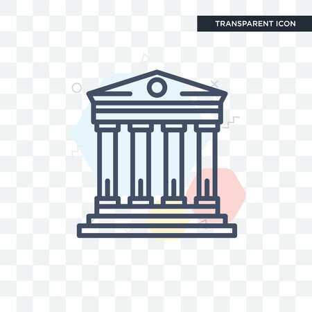 pillar vector icon isolated on transparent background