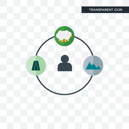 shepherd vector icon isolated on transparent background, shepherd logo concept Ilustracja