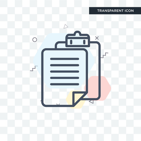 Paste clipboard vector icon isolated on transparent background, Paste clipboard logo concept Ilustrace