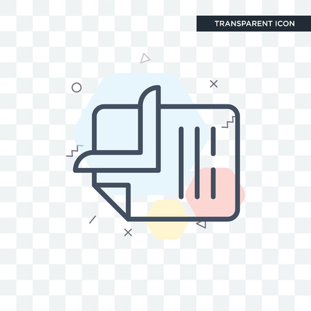Clip vector icon isolated on transparent background, Clip logo concept