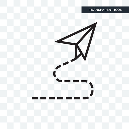 Paper plane vector icon isolated on transparent background, Paper plane logo concept
