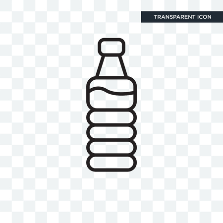 Water bottle vector icon isolated on transparent background, Water bottle logo concept