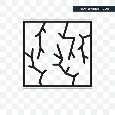 Crack vector icon isolated on transparent background, Crack logo concept