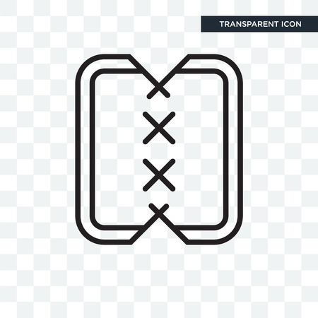 Material vector icon isolated on transparent background, Material logo concept Stock Vector - 108719508