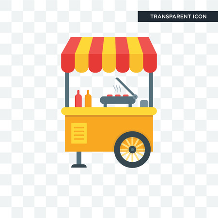 Street food vector icon isolated on transparent background, Street food logo concept Illustration