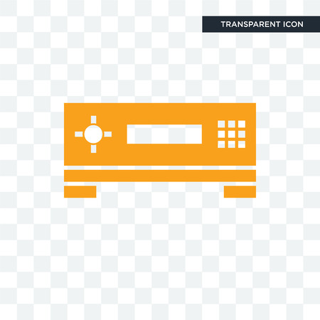 set top box vector icon isolated on transparent background, set top box logo concept Illustration