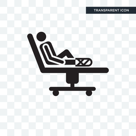 Injury vector icon isolated on transparent background, Injury logo concept