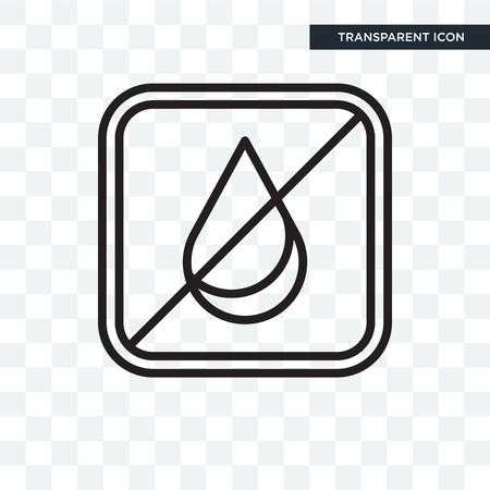 No water vector icon isolated on transparent background, No water logo concept