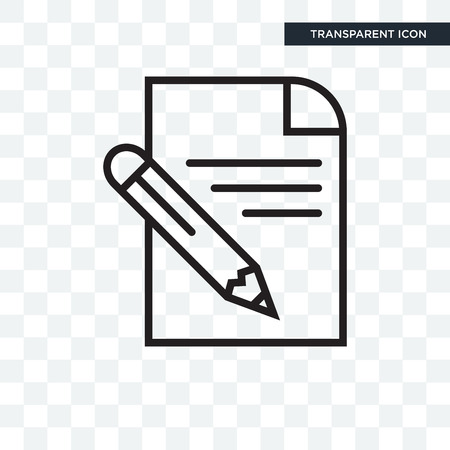 Pencil vector icon isolated on transparent background, Pencil logo concept