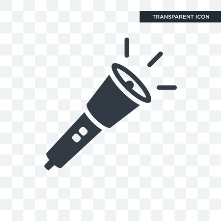 Flashlight vector icon isolated on transparent background, Flashlight logo concept