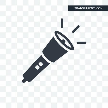 Flashlight vector icon isolated on transparent background, Flashlight logo concept