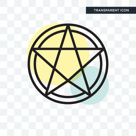 Paganism vector icon isolated on transparent background, Paganism logo concept Vettoriali