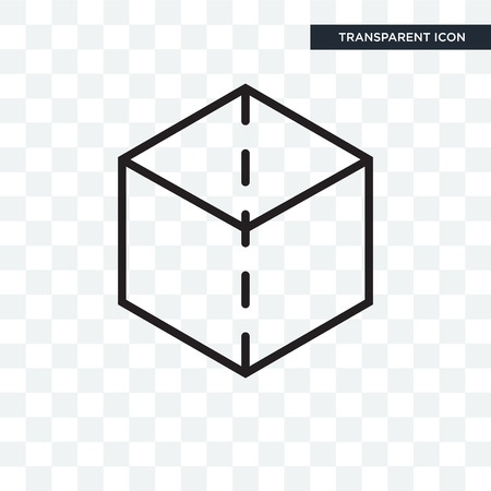 Cube vector icon isolated on transparent background, Cube logo concept