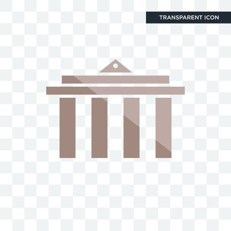 municipality vector icon isolated on transparent background, municipality logo concept Illustration
