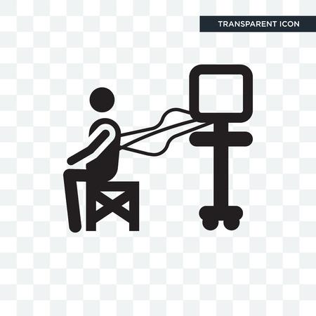 Examination vector icon isolated on transparent background, Examination logo concept
