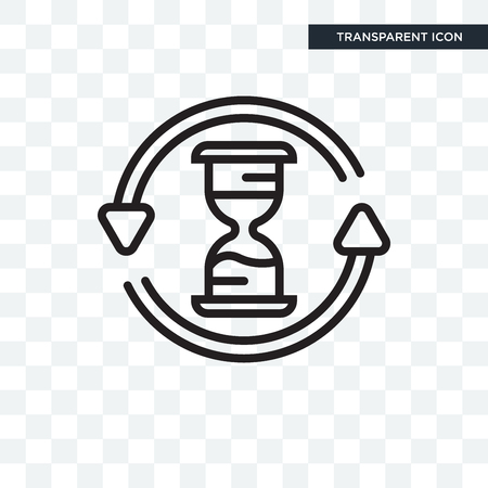 Hourglass vector icon isolated on transparent background, Hourglass logo concept