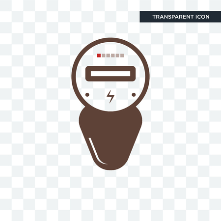electric meter vector icon isolated on transparent background, electric meter logo concept
