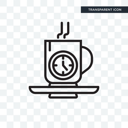 Tea time vector icon isolated on transparent background, Tea time logo concept