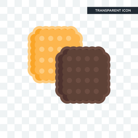 Biscuit vector icon isolated on transparent background, Biscuit logo concept