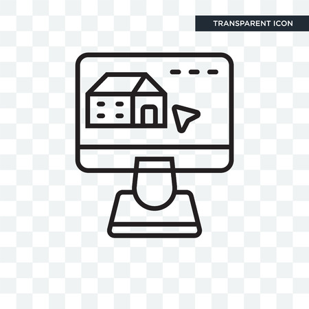 Real estate vector icon isolated on transparent background, Real estate logo concept
