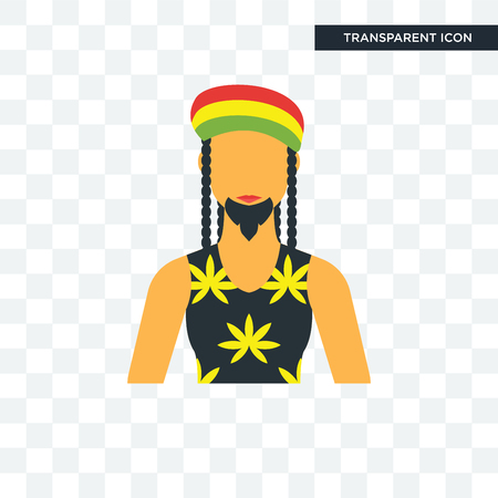 Jamaican vector icon isolated on transparent background, Jamaican logo concept
