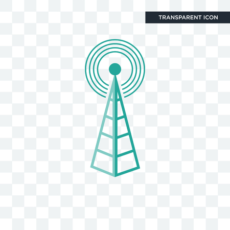 cell tower vector icon isolated on transparent background, cell tower logo concept