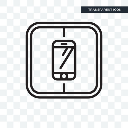 Smarthphone vector icon isolated on transparent background, Smarthphone logo concept Vectores