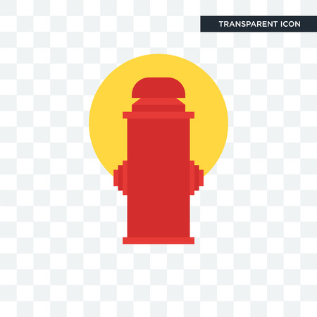 fire hydrant vector icon isolated on transparent background, fire hydrant logo concept Иллюстрация