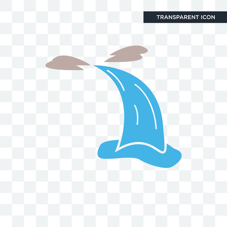 waterfall vector icon isolated on transparent background, waterfall logo concept Illustration