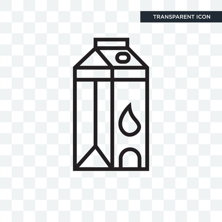 Milk vector icon isolated on transparent background, Milk logo concept