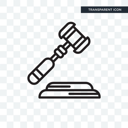 Law vector icon isolated on transparent background, Law logo concept