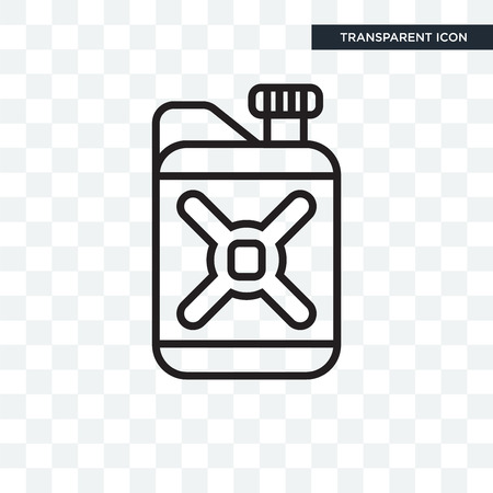 Gasoline vector icon isolated on transparent background, Gasoline logo concept