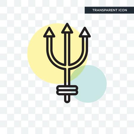 Neptune vector icon isolated on transparent background, Neptune logo concept Stock Illustratie