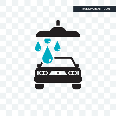 Carwash vector icon isolated on transparent background, Carwash logo concept