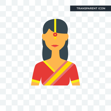 Indian vector icon isolated on transparent background, Indian logo concept