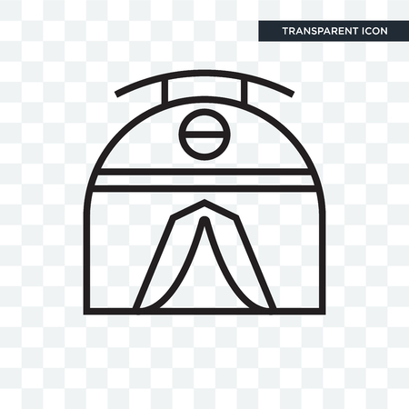 Tent vector icon isolated on transparent background, Tent logo concept Illustration