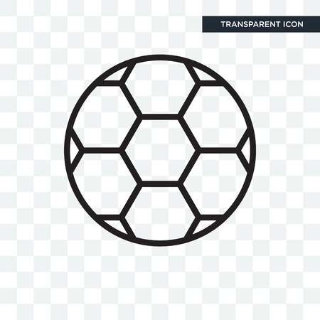 Football vector icon isolated on transparent background, Football logo concept