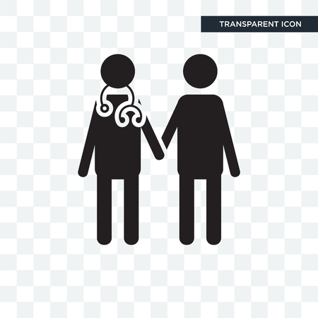 Doctor vector icon isolated on transparent background, Doctor logo concept Ilustração
