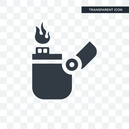 Lighter vector icon isolated on transparent background, Lighter logo concept