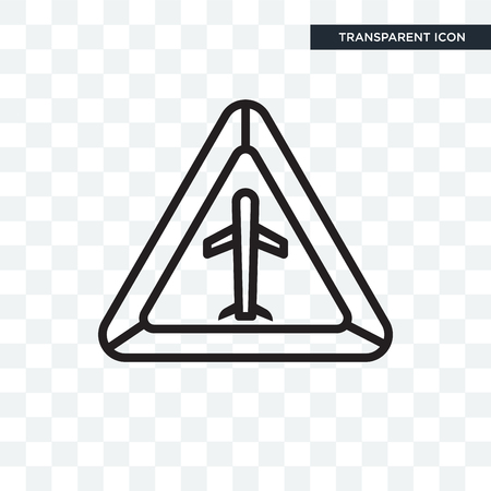 Airport vector icon isolated on transparent background, Airport logo concept