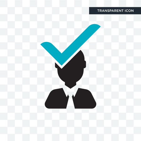 Candidate vector icon isolated on transparent background, Candidate logo concept Banque d'images - 108954908