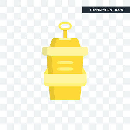 Cup vector icon isolated on transparent background, Cup logo concept
