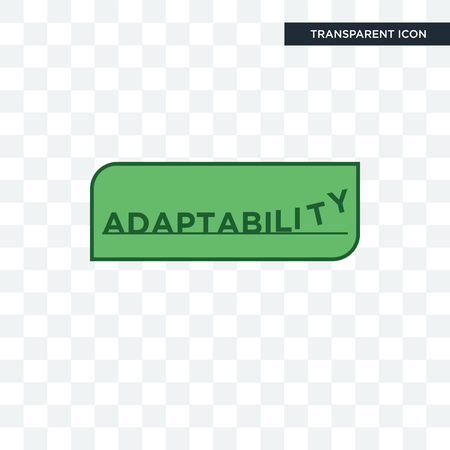 adaptability vector icon isolated on transparent background, adaptability logo concept Vectores
