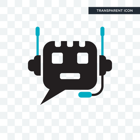 Chat bot vector icon isolated on transparent background, Chat bot logo concept
