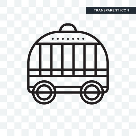 Cage vector icon isolated on transparent background, Cage logo concept Illustration