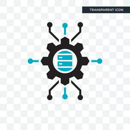 Big data scientist vector icon isolated on transparent background, Big data scientist logo concept Stock Illustratie