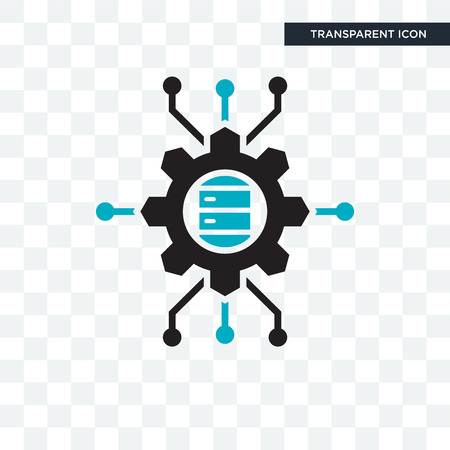 Big data scientist vector icon isolated on transparent background, Big data scientist logo concept 矢量图像