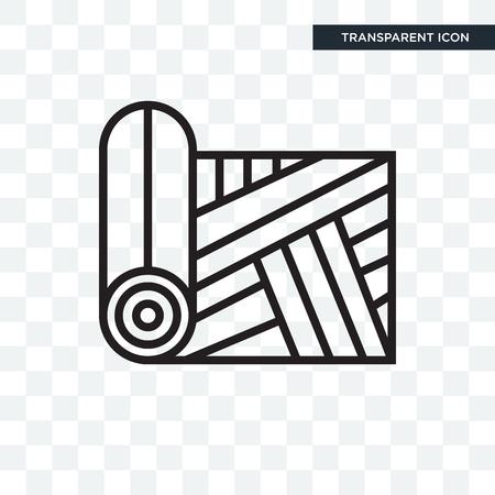 Icône de vecteur de tissu isolé sur fond transparent, concept logo tissu