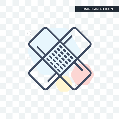 Patch vector icon isolated on transparent background, Patch logo concept Иллюстрация